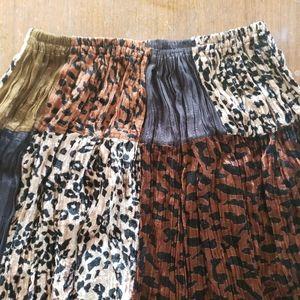 Crushed velvet Skirt leopard animal print